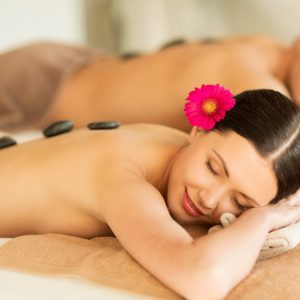 Hot stone back massage