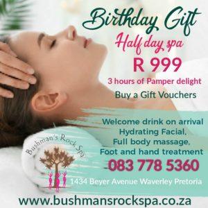 Birthday spa special