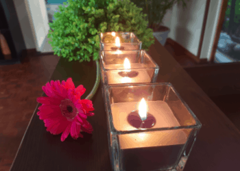 Candles and Flower Slider