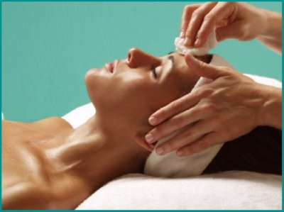 Facial with blue background2