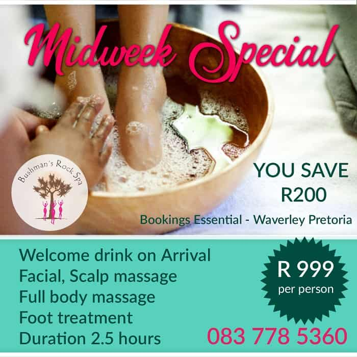 Midweek spa special Oct.